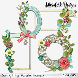 Spring Fling Cluster Frames