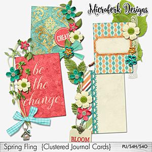 Spring Fling Clustered Journal Cards