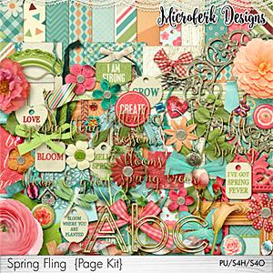 Spring Fling Page Kit