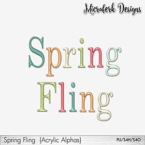 Spring Fling Acrylic Alphas