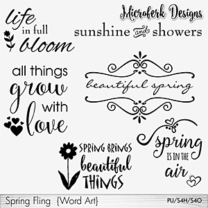 Spring Fling Word Art