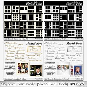 Storyboards Basics Bundle - Silver & Gold + Labels