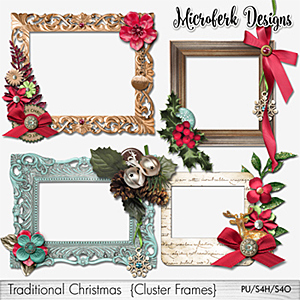 Traditional Christmas Cluster Frames