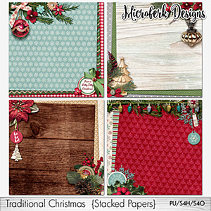 Traditional Christmas Stacked Papers