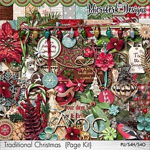 Traditional Christmas Page Kit