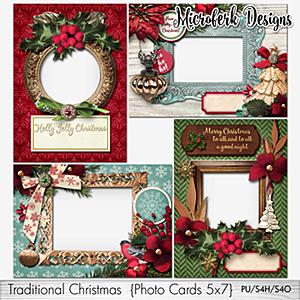Traditional Christmas Photocards 5x7