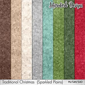 Traditional Christmas Sparkled Plains