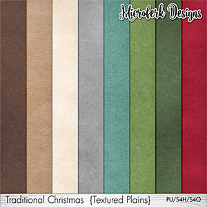 Traditional Christmas Textured Plains