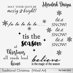 Traditional Christmas Word Art