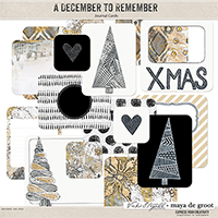 A December to Remember - Journaling Cards