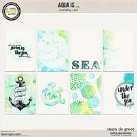Aqua is ... Journal Cards
