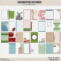 Documenting December Journaling Cards