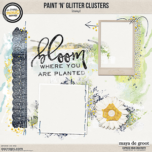 Paint 'n' Glitter Clusters [Daisy]