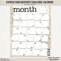 Express Your Creativity Challenge: Calendar