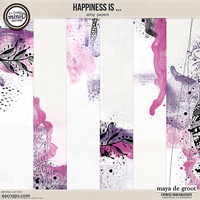 Happiness is ... Artsy Papers set 2