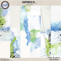 Happiness is ... Artsy papers set 1