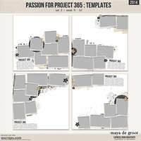 Passion for Project 365 - 2014 Template set 3
