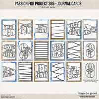 Passion for Project 365 Journaling Cards