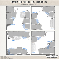 Passion for Project 365 Templates set 4