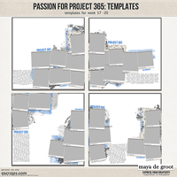 Passion for Project 365 Templates set 5