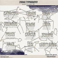 Zodiac Typography