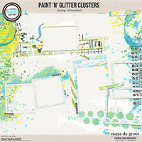 Paint 'n' Glitter Clusters [Spring Silhouettes]