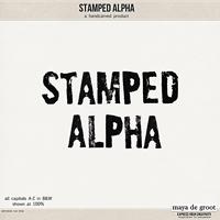 Stamped Alpha