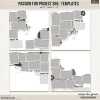 Passion for Project 365 - 2014 Template set 2