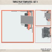 Triple Play Templates: Set 1