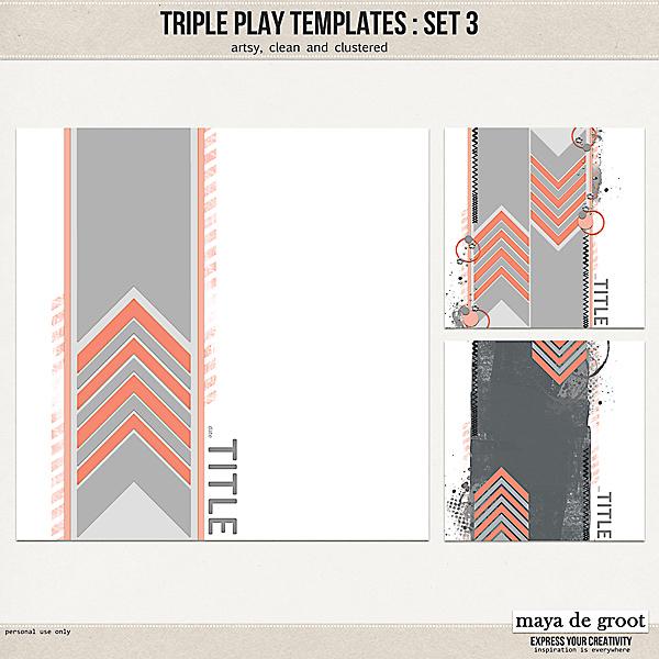 Triple Play Templates: Set 3