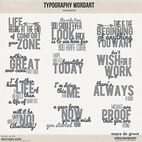 Typography Wordart Motivation