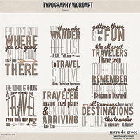 Typography Wordart Travel