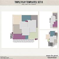 Triple Play Templates: Set 8
