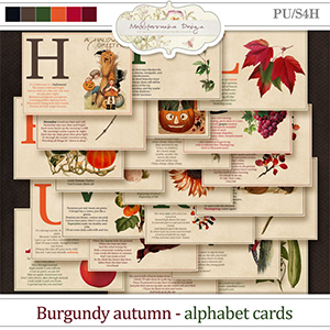 Burgundy autumn (Alphabet cards)