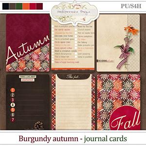 Burgundy autumn (Journal cards)