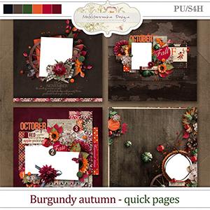 Burgundy autumn (Quick pages)