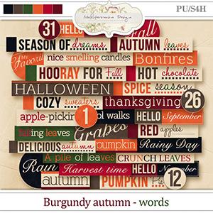 Burgundy autumn (Words)