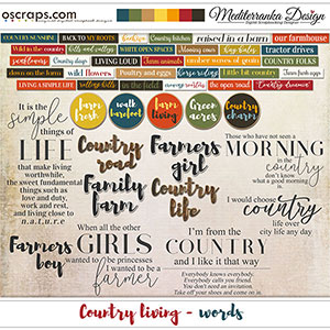 Country living (Words)