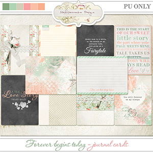 Forever begins today (Journal cards)
