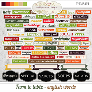 Farm to table (Words)