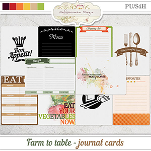 Farm to table (Journal cards)