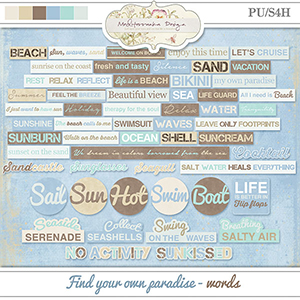 Find your own paradise (Words)