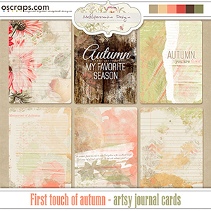 First touch of autumn (Artsy journal cards)