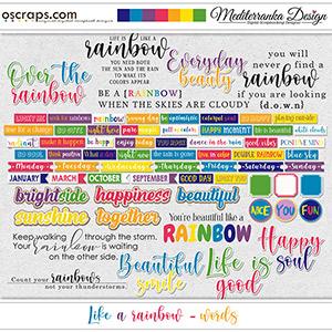 Like a rainbow (Words)
