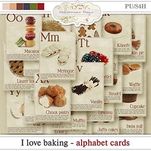 I love baking (Alphabet cards)
