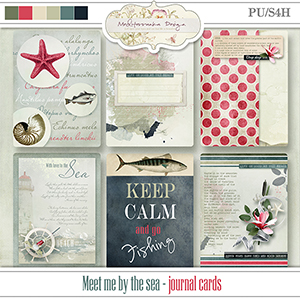 Meet me by the sea (Journal cards)