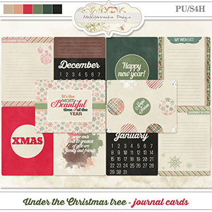 Under the Christmas tree (Journal cards)