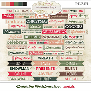Under the Christmas tree (Words)