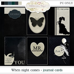 When night comes (Journal cards)