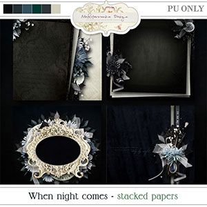 When night comes (Stacked papers)